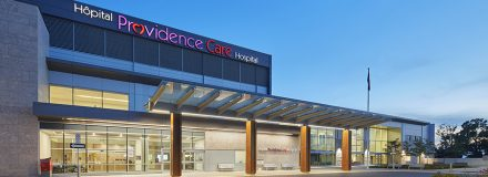 © Parkin Architects Ltd. | Hospital News features Providence Care Hospital LEED Silver Certification