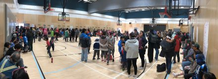© Parkin Architects Ltd.   First Official Day of School in Kugaaruk